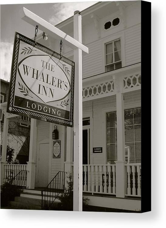 Mystic Canvas Print featuring the photograph Whaler's Inn by Heather Weikel