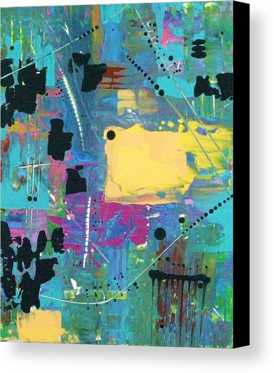 Abstract-expressionism Canvas Print featuring the painting What The World Needs Now Is More Yellow by Charlotte Nunn