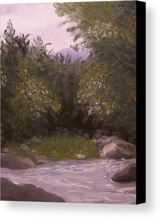 Landscape Canvas Print featuring the painting Wilderness by Pamela Wilson