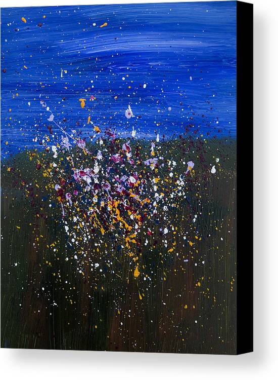 Acrylic Canvas Print featuring the painting Wildflower Abstraction by Brad Rickerby