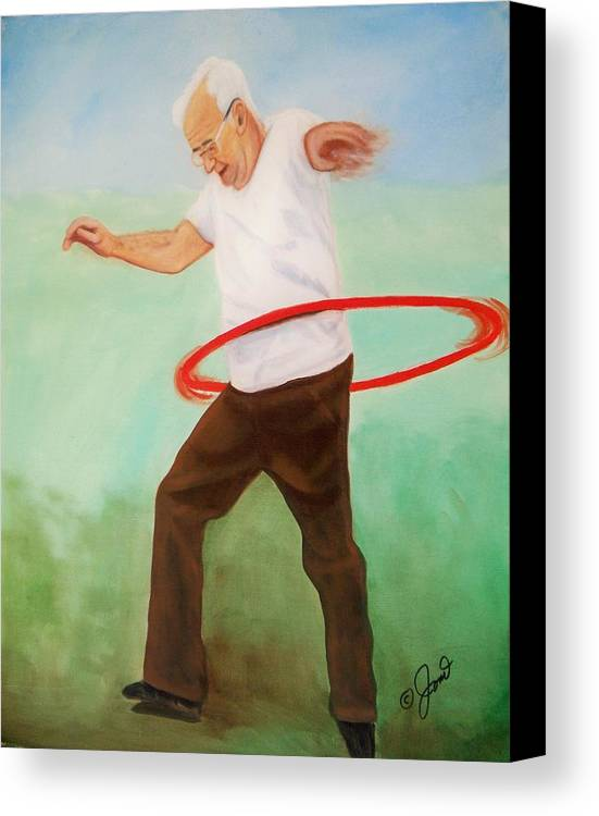 Portrait Canvas Print featuring the painting Young At Heart by Joni McPherson
