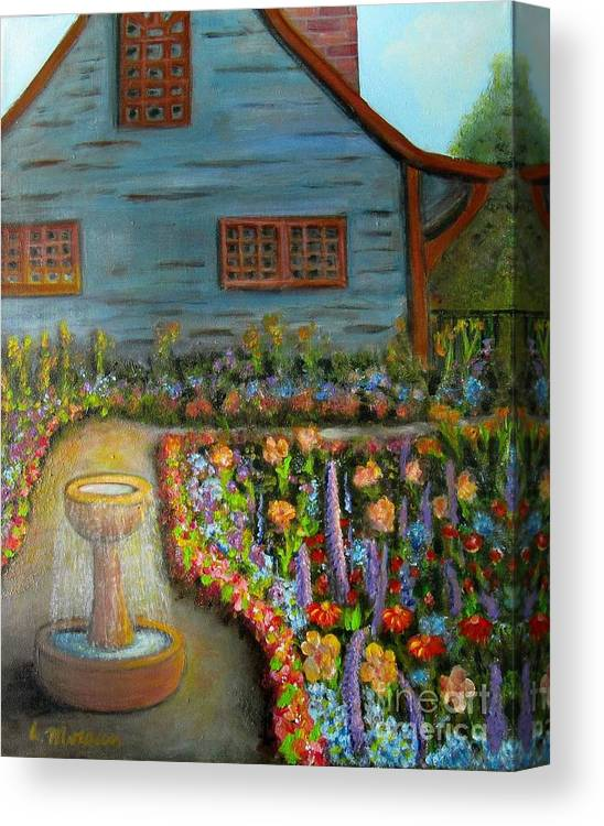 Garden Canvas Print featuring the painting Dream Garden by Laurie Morgan