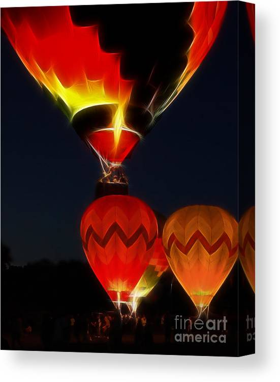 Balloons Canvas Print featuring the photograph Night Of The Balloons by Raymond Earley