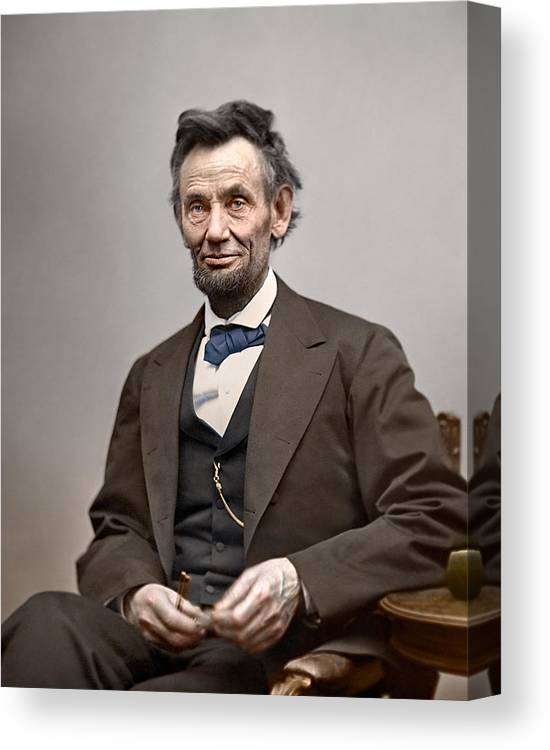 classic Canvas Print featuring the photograph President Abraham Lincoln 6 by Retro Images Archive