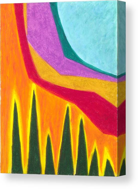Abstract Canvas Print featuring the painting A Calming Influence by Carrie MaKenna