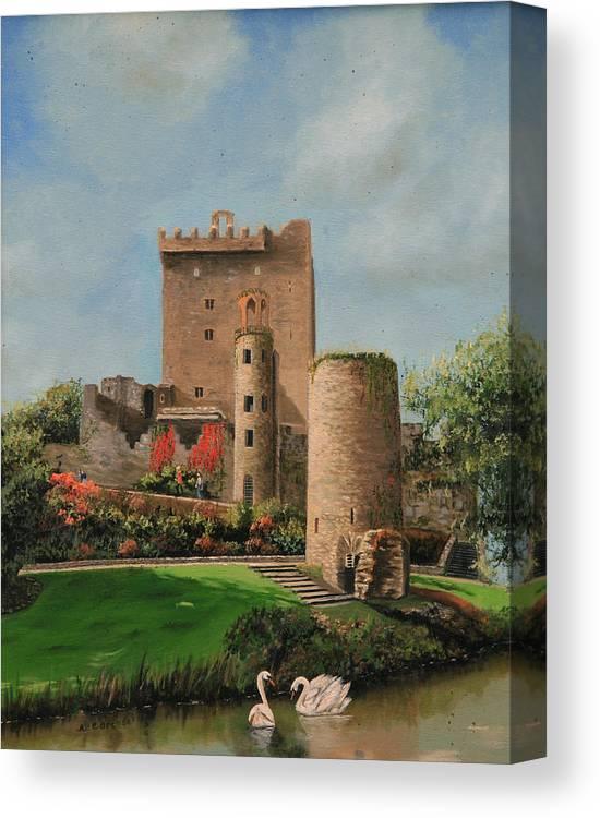 eb381deec7d Irish Original Oil Painting By Cecilia Brendel Canvas Paint Castle Blarney  Castle In Ireland Stone Building