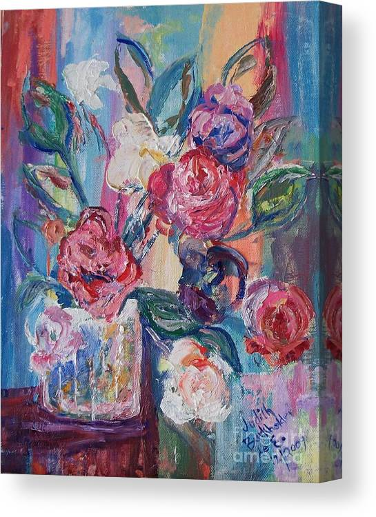 Impressionistic Canvas Print featuring the painting Bouquet 3 - Sold by Judith Espinoza