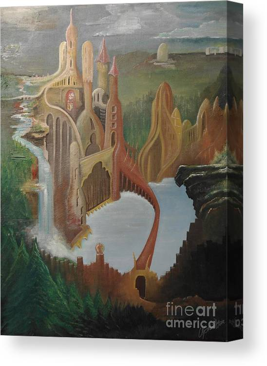 Canvas Print featuring the painting Castle by Owen G Maidstone