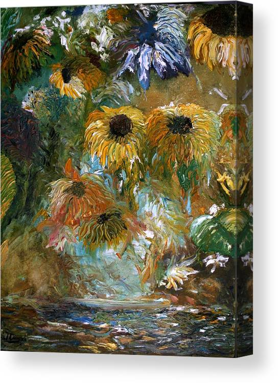 Flowers Canvas Print featuring the painting Flower Rain by Jack Diamond