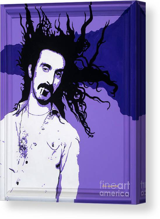 Frank Zappa Canvas Print featuring the painting Frank Zappa by Paul Wolff
