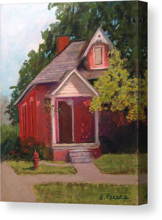 Howell Canvas Print featuring the painting Howell House 1 by Linda Preece