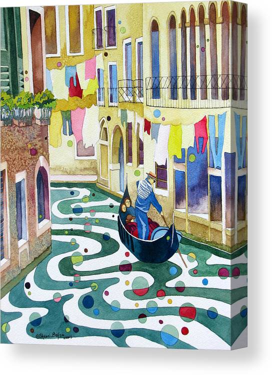 Nature Canvas Print featuring the painting Laundry Day by Sherri Bails