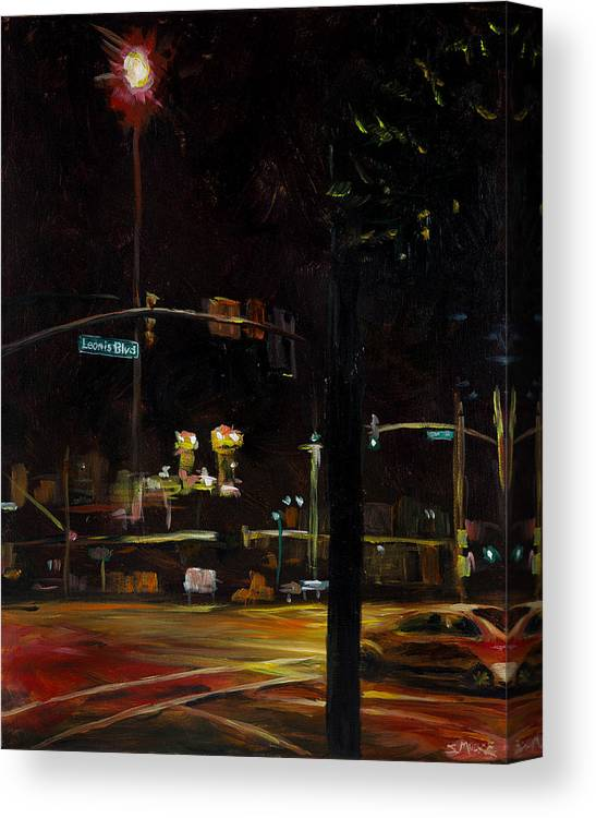 Canvas Print featuring the painting Leonis Blvd by Susan Moore