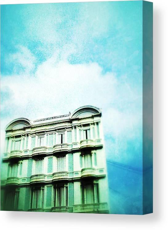 Old San Juan-pr-urban-caribbean-city Canvas Print featuring the digital art Recinto Sur by Olivier Calas