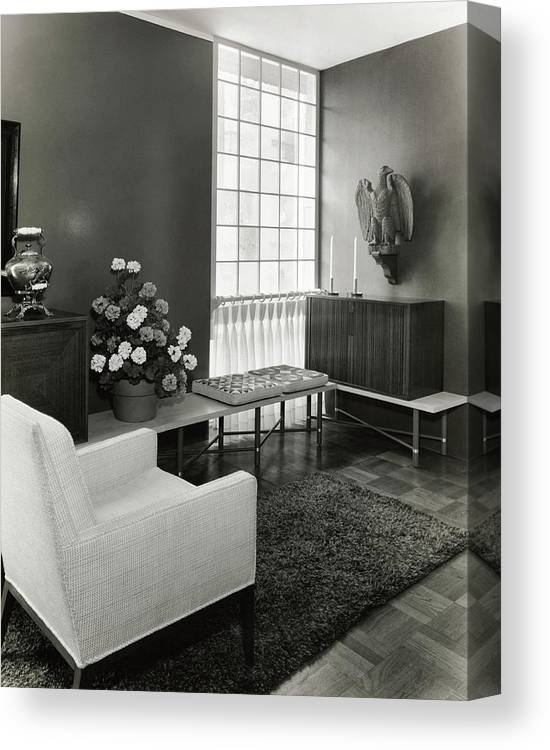 Interior Design Canvas Print featuring the photograph Room Designed By John And Earline Brice by Tom Leonard