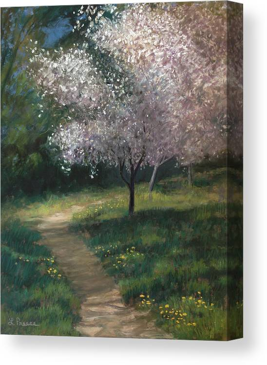 Shelby Canvas Print featuring the painting Spring Blossoms by Linda Preece