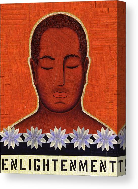 Buddha Canvas Print featuring the mixed media Enlightenment by Gloria Rothrock