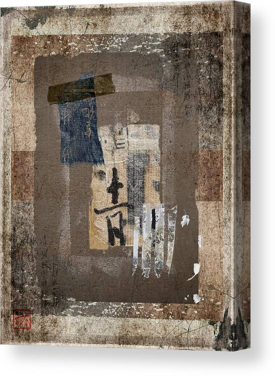 Torn Canvas Print featuring the photograph Torn Papers On Wall Number 3 by Carol Leigh