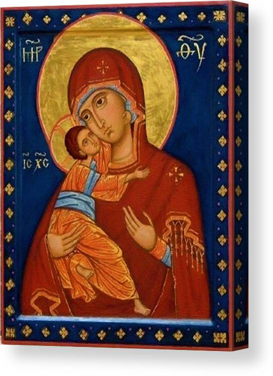 Virgin And Child Canvas Print featuring the digital art Virgin And Child by Carol Jackson