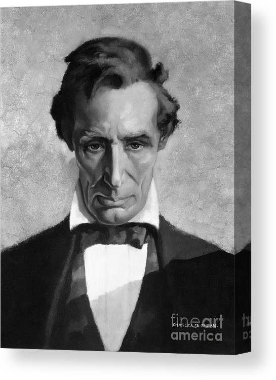 photograph regarding Printable Pictures of Abraham Lincoln titled Abraham Lincoln (1809-1865) Canvas Print