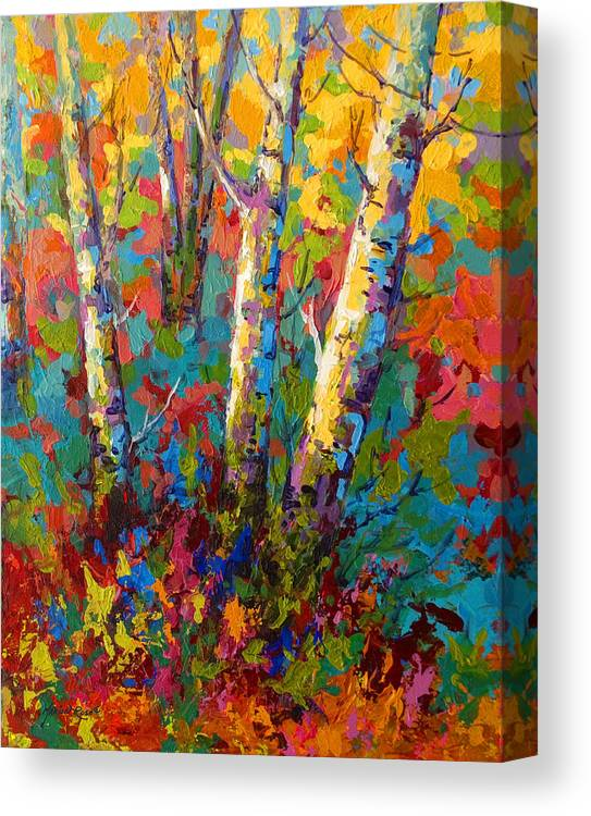 Trees Canvas Print featuring the painting Abstract Autumn II by Marion Rose