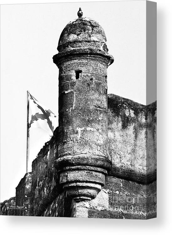Fort Canvas Print featuring the photograph Castillo Lookout by Addison Fitzgerald