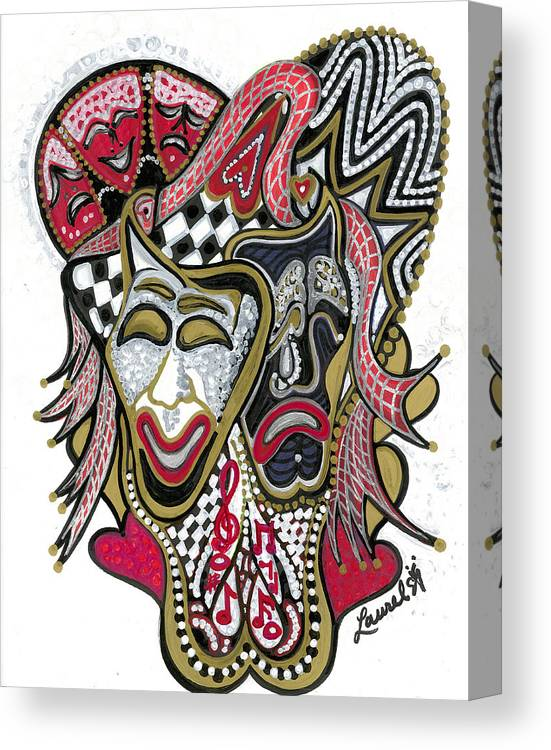 Tragedy Canvas Print featuring the painting Celebration - X by Laurel Rosenberg