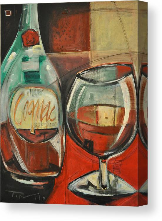 Alcohol Canvas Print featuring the painting Cognac by Tim Nyberg