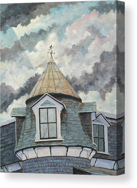 Art Canvas Print featuring the painting Crack The Sky_reserve by Richard T Pranke