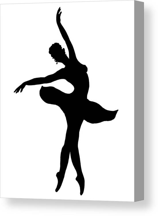 huge selection of b2c44 2537d Dancing Ballerina Silhouette Canvas Print