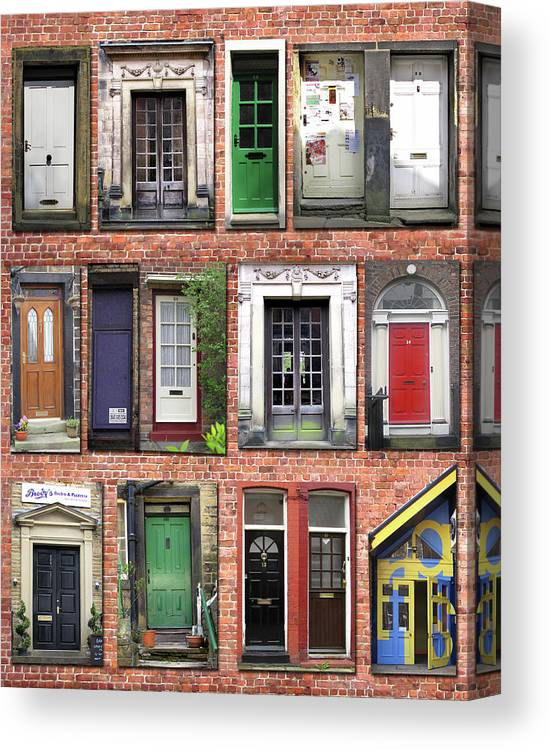 Doors Canvas Print featuring the photograph Doors Of England I by Helaine Cummins