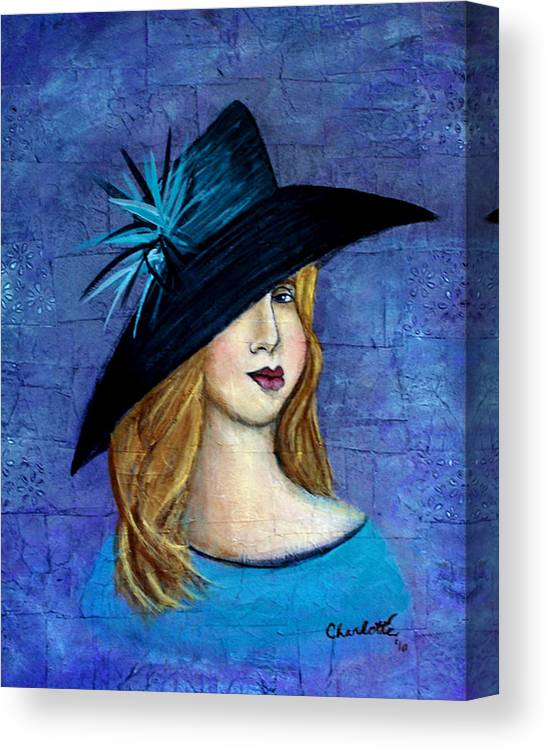 Lady Canvas Print featuring the painting Elloise by The Art With A Heart By Charlotte Phillips