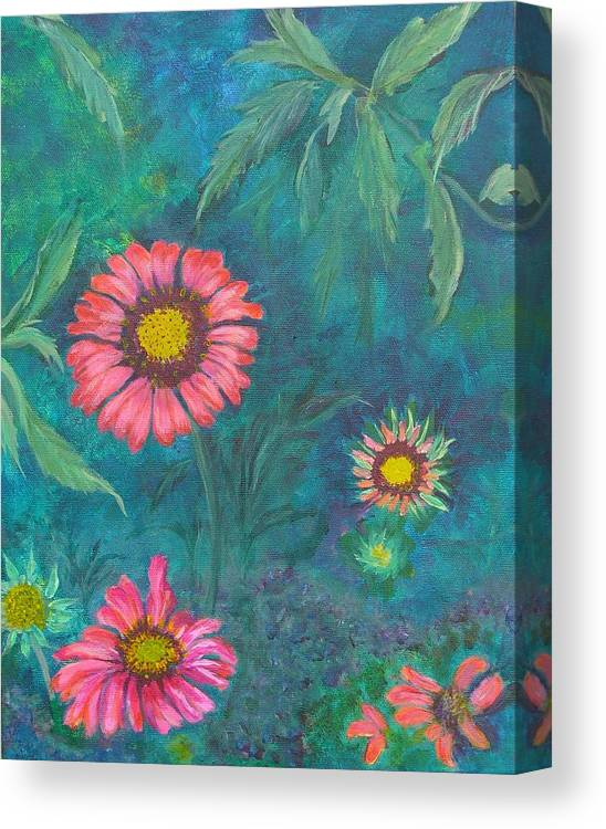 Garden Canvas Print featuring the painting Gallardia by Peggy King