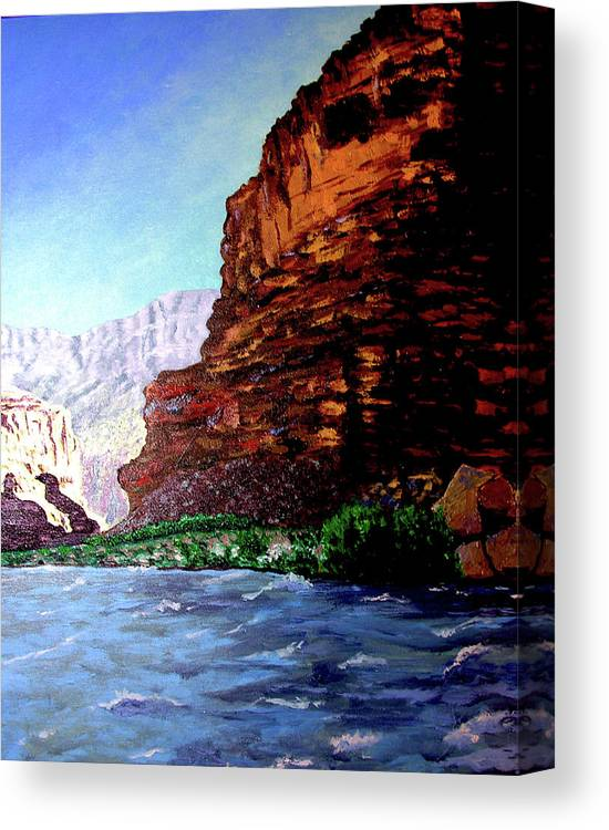 Oiriginal Oil On Canvas Canvas Print featuring the painting Grand Canyon II by Stan Hamilton