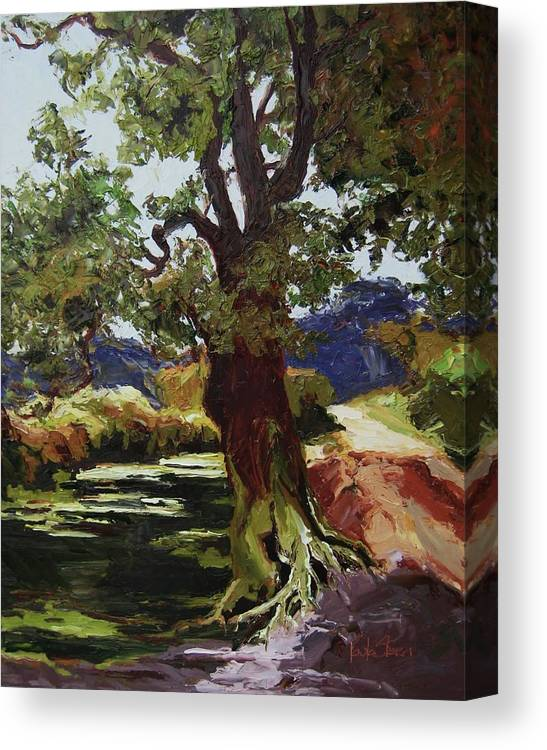Landscape Canvas Print featuring the painting Her Highness by Paula Stern