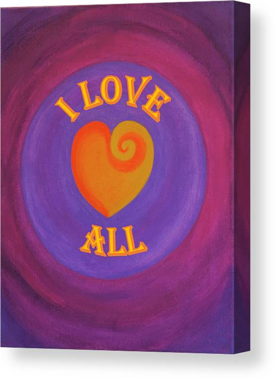 Love Canvas Print featuring the painting I Love All by Ron Snyder