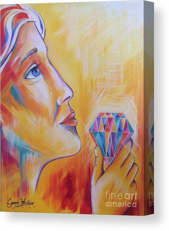 Diamond Canvas Print featuring the painting It's Time To Shine by Lynne Hudson