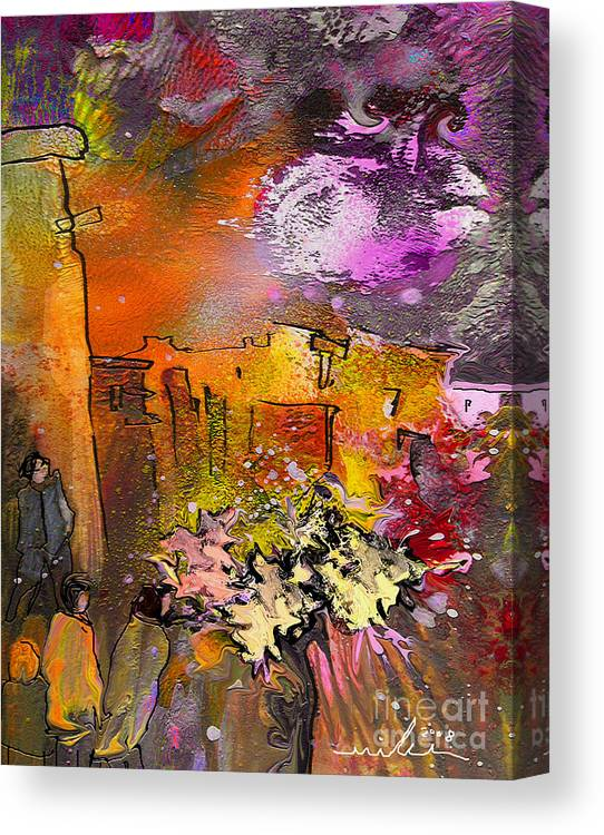 Landscape Painting Canvas Print featuring the painting La Provence 14 by Miki De Goodaboom