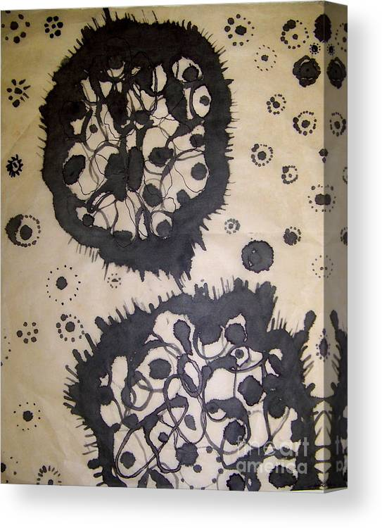 Abstract Canvas Print featuring the painting Lovely Mutation by Angela Dickerson