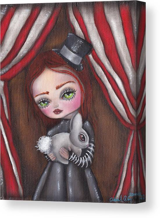 Magic Canvas Print featuring the painting Magician Girl by Abril Andrade Griffith