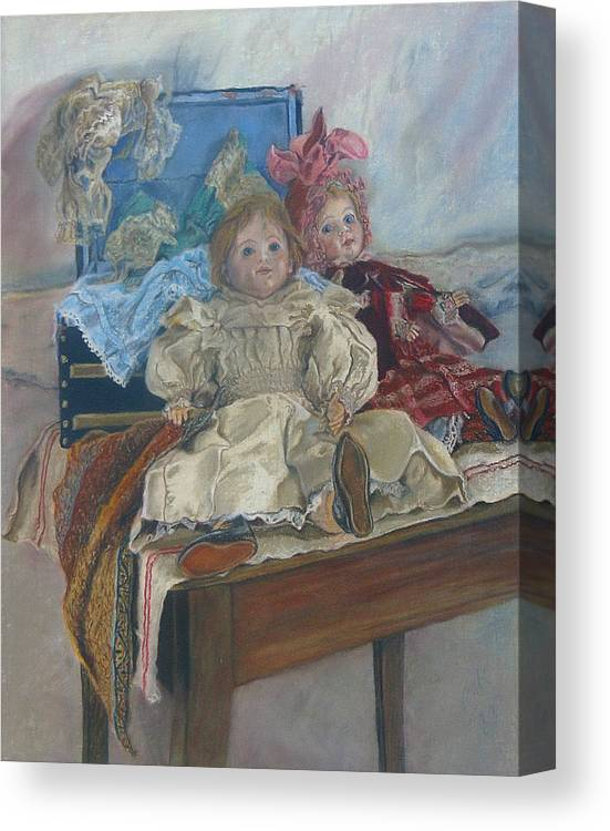 Pastel Canvas Print featuring the painting Mlle. Pinchon by Miriam A Kilmer