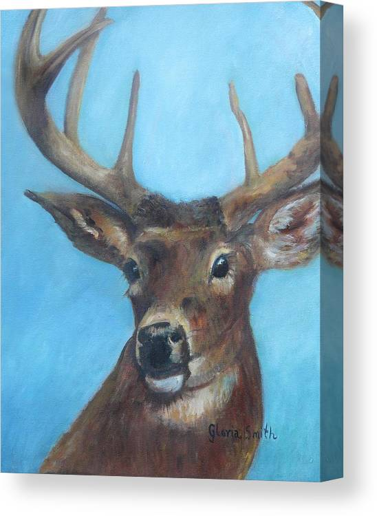 Deer Canvas Print featuring the painting Nature's Beauty by Gloria Smith