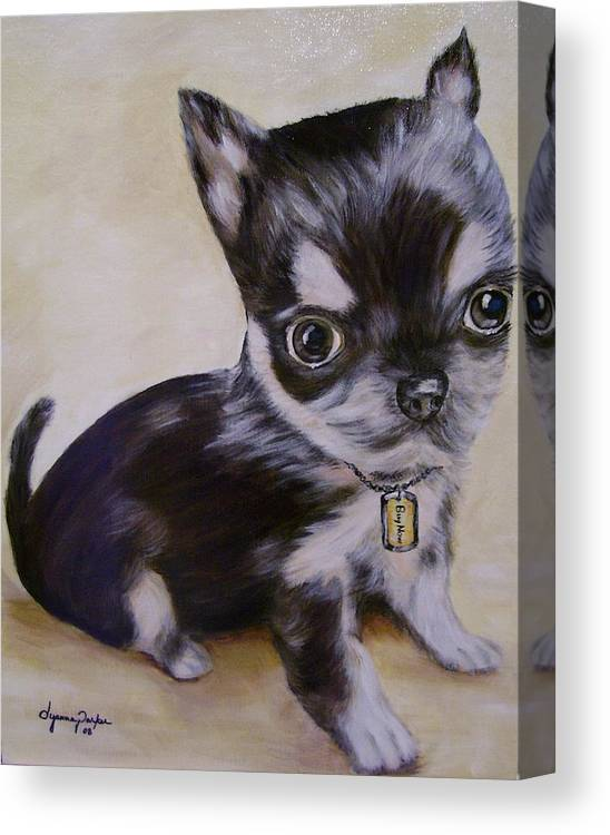 Dog Canvas Print featuring the painting Pay Pal by Dyanne Parker