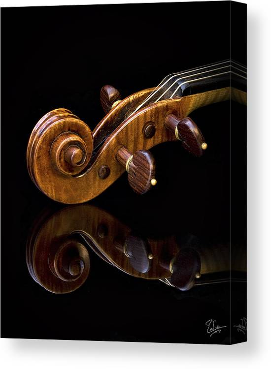 Strad Canvas Print featuring the photograph Reflected Scroll by Endre Balogh
