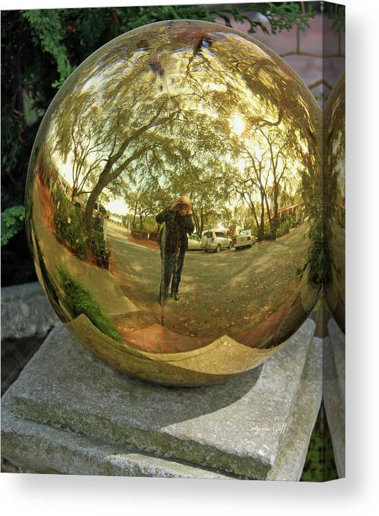 Reflection Canvas Print featuring the photograph Reflection Of An Obsession by Suzanne Gaff