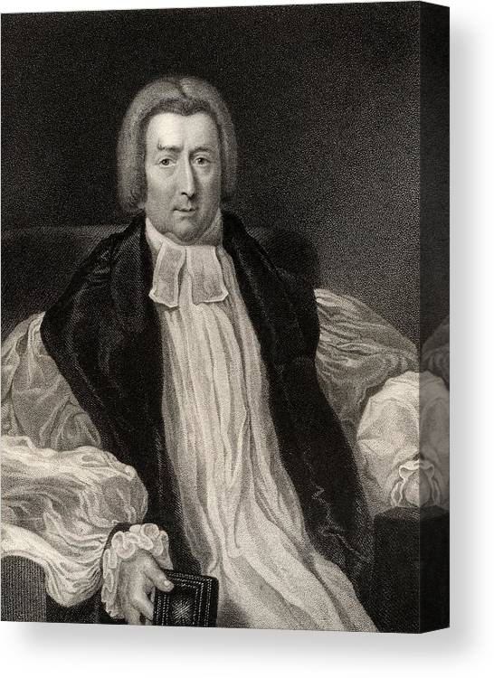 Black And White Canvas Print featuring the drawing Rev Robert Gray 1762 To 1834 Bishop Of by Vintage Design Pics