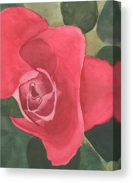 Rose Canvas Print featuring the painting Rose by Dawn Marie Black