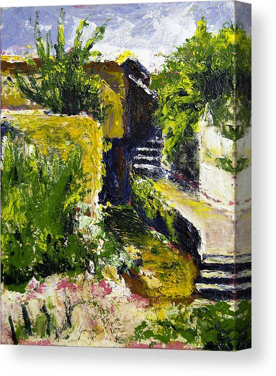 Steps Canvas Print featuring the painting Steps To San Martin by Robert Sako
