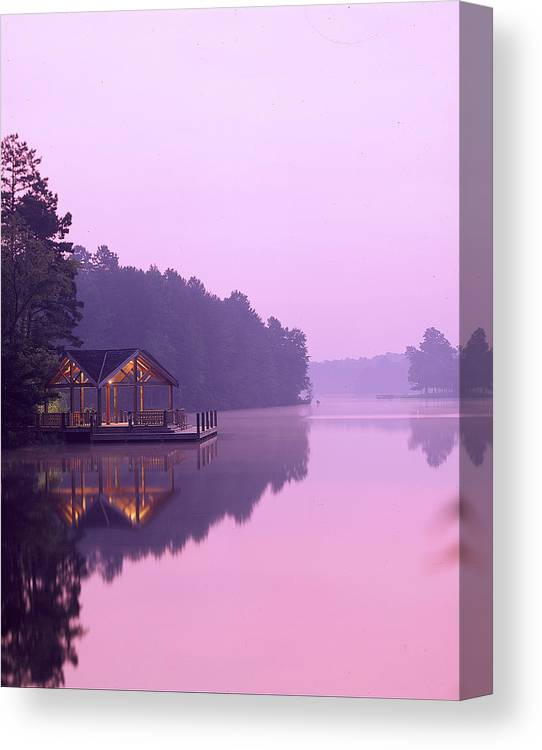 Lake Canvas Print featuring the photograph Sunrise Over Lake Jeanette. by Robert Ponzoni