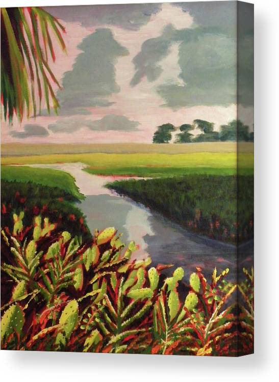 River Canvas Print featuring the painting Suwanee River Delta by CB Woodling